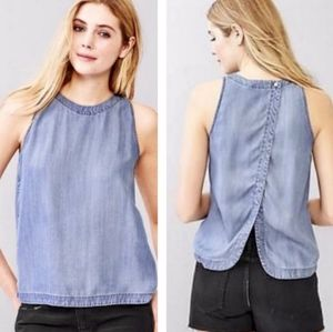Gap Maternity split-back Tencel chambray tank top